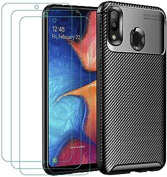 ivoler Funda para Samsung Galaxy A20e / A20 e + 3 Unidades Cristal ...