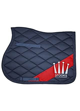 Spooks Diagonal Pad Tapis De Selle Bleu Marinerouge Taille Unique