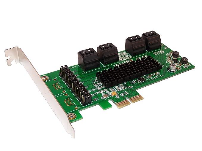 1 opinioni per Scheda controller PCI Express (PCI-e) x2 a 8 porte SATA III- Chipset Marvell