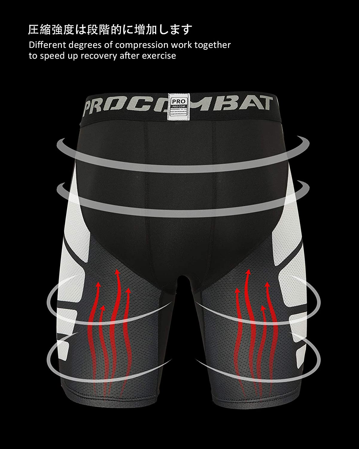 Milin Naco Men's Compression Shorts with Pocket, Cool Dry Baselayer Sports Tights, Pack of 3: Clothing