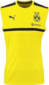 Puma Camiseta para hombre con diseño del Borussia Dortmund, cyber yellow-black: Amazon.es: Deportes y aire libre