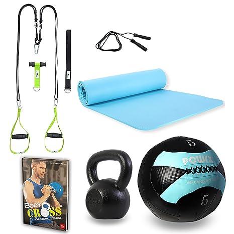 POWRX – Set Bodyweight con accesorios de entrenamiento funcional + ...
