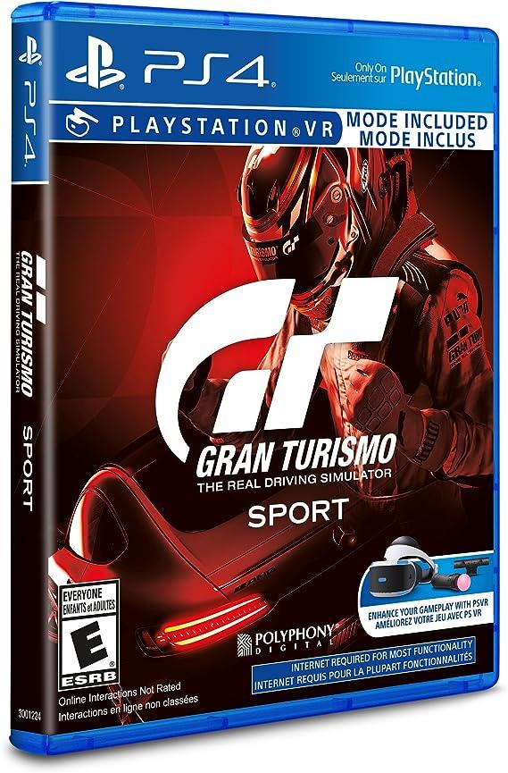 Sony Gran Turismo Sport, PS4 Básico PlayStation 4 Inglés, Francés vídeo - Juego (PS4, PlayStation 4, Racing, Modo multijugador, PG (Guía parental)): Amazon.es: Videojuegos