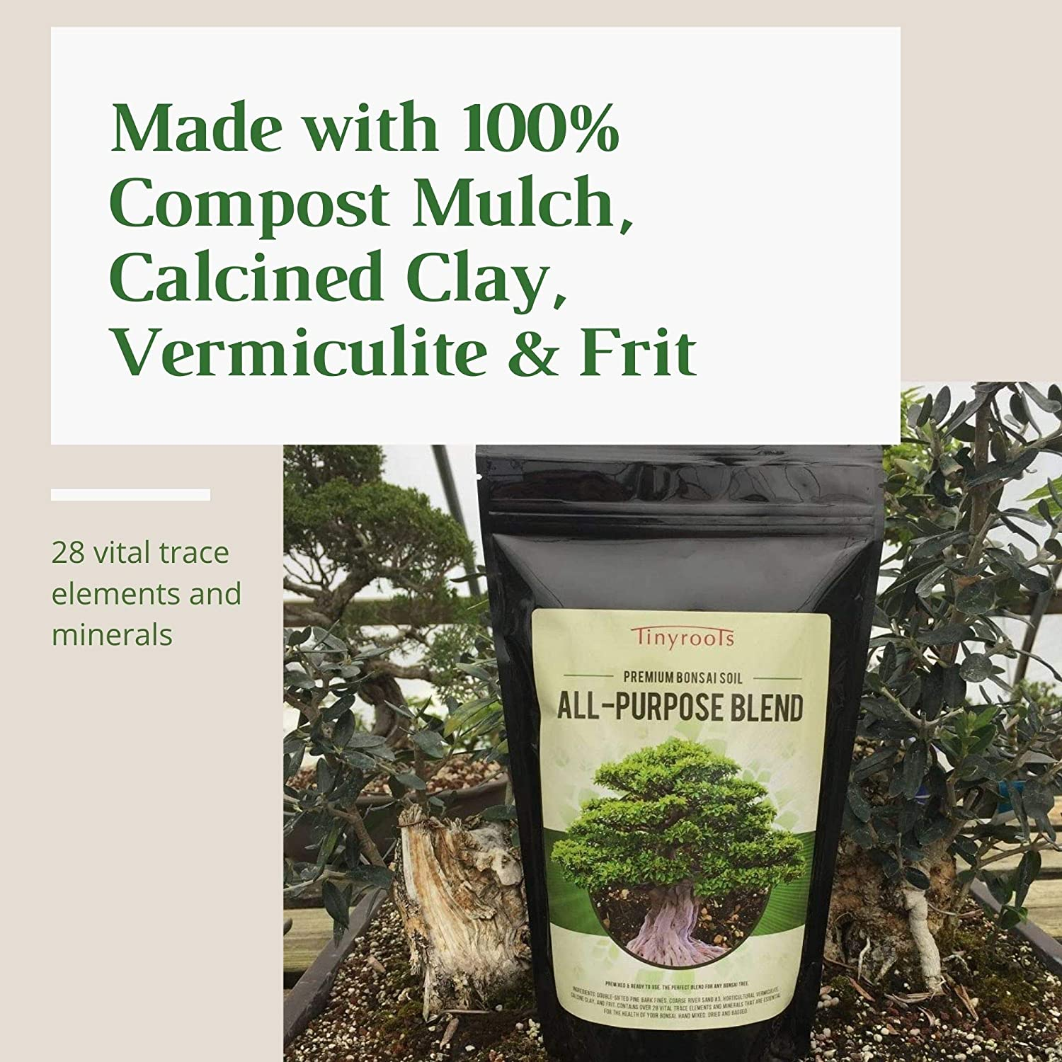 Amazon Com Bonsai Soil By Bonsai Outlet Tinyroots All Purpose Soil Mix Used For Potting All Varieties Of Bonsai Trees 2 5 Gallon Garden Outdoor