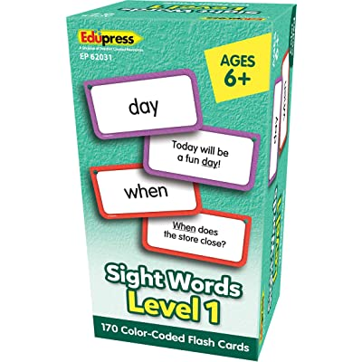 Teacher Created Resources Sight Words Flash Cards - Level 1, Model: EP62031: Office Products