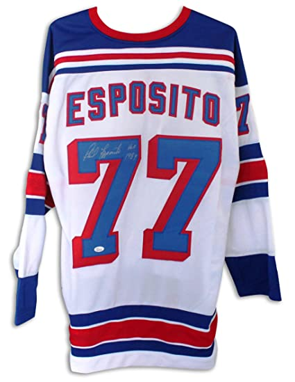 cheap for discount 30945 00d87 Phil Esposito New York Rangers Autographed White Jersey ...