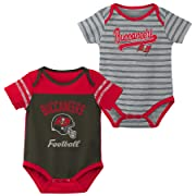 Outerstuff NFL NFL Tampa Bay Buccaneers Newborn & Infant Dual-Action 2 Piece Bodysuit Set Pewter Black, 3-6 Months