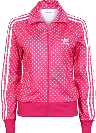 Amazon.com : adidas Firebird Women's Tracksuit Jacket pink ...