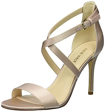 d509a6c22bbc Nine West Women s MYDEBUT Satin Luxe Sandal Light Natural 11 ...