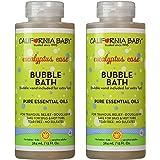 加利福尼亚婴儿泡泡浴芳香沐浴,13盎司,2瓶装(桉树缓解 宁静温和)