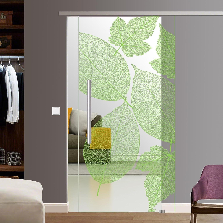 Glas schiebetür schienensystem  BF1900-210-AS: Glasschiebetür Glas Schiebe Tür SoftStop SlimLine ...