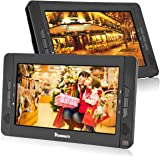 """10.1"""" Dual Screen Portable DVD Player with 5-Hour Built-In Rechargeable Battery-Black (Dual DVD Players)"""