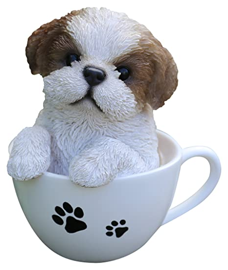 Amazoncom Hi Line Gift Ltd Pet Pals Teacup Shih Tzu Puppy