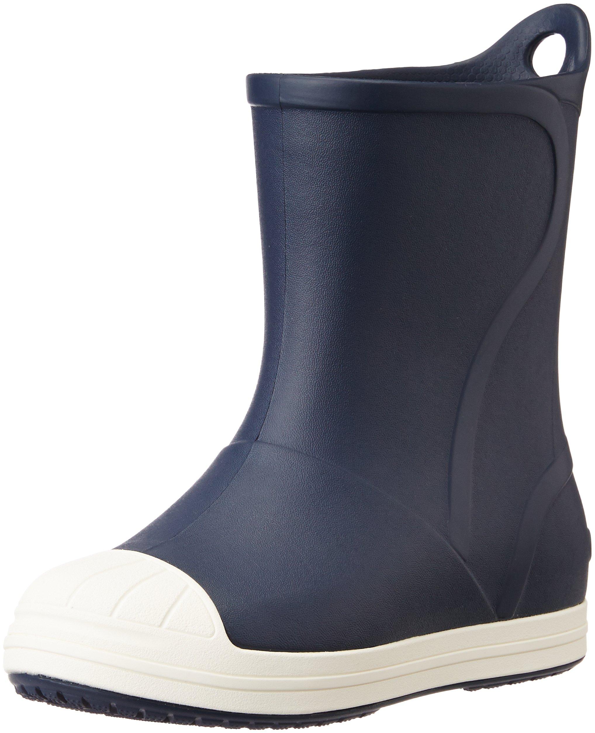 Crocs Bump It Rain Boot, Navy/Oyster, 8 M US Toddler