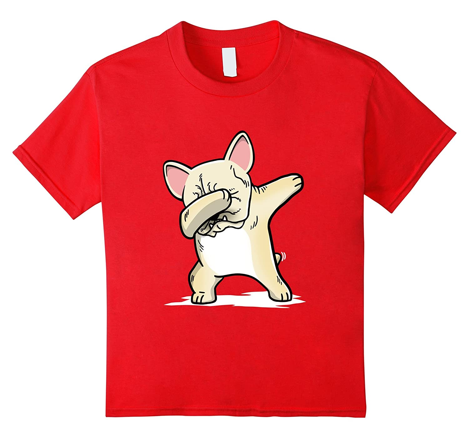 Cream French Bulldog Dabbing T Shirt-Tovacu