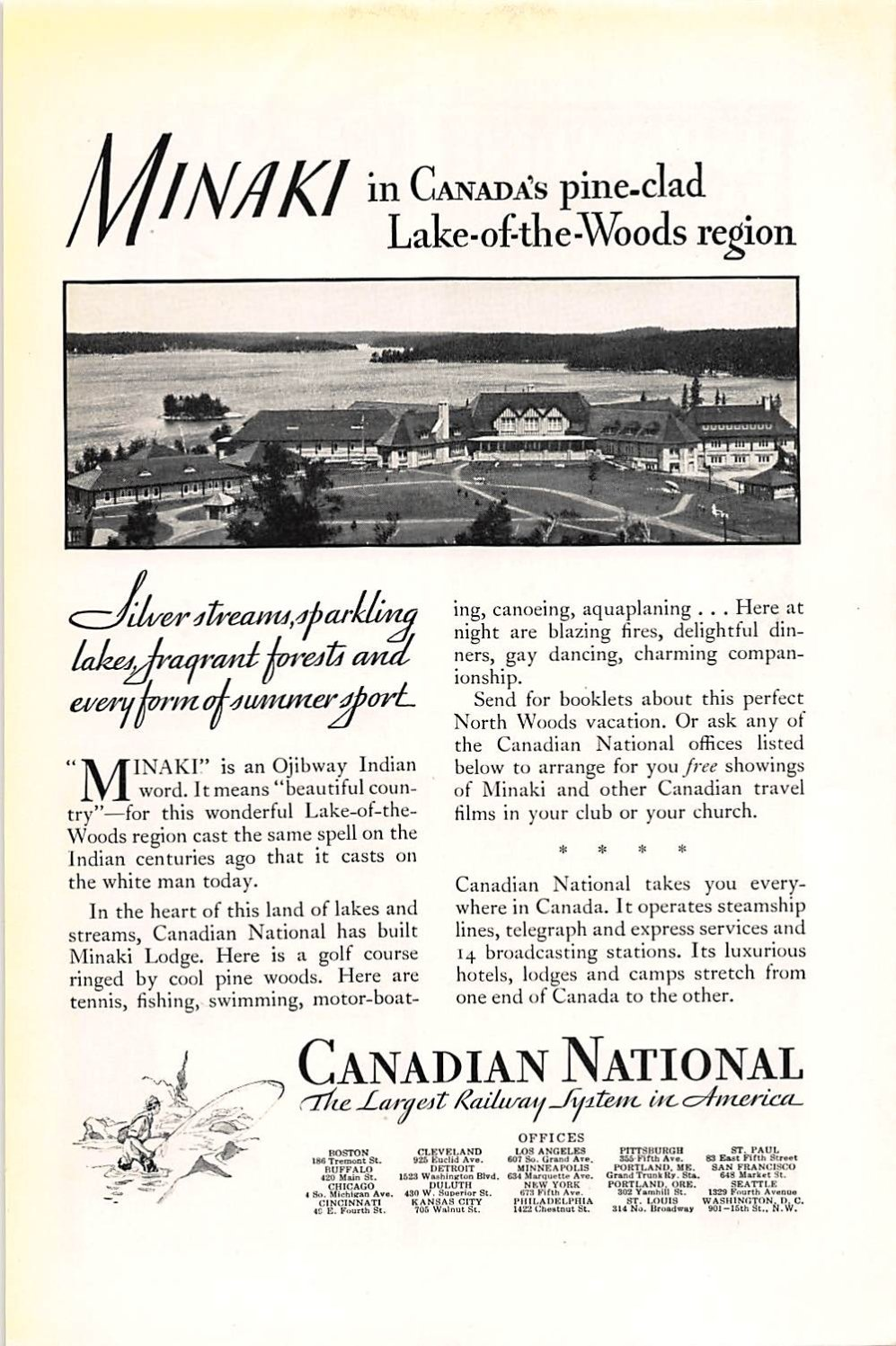 Amazon com: Print Ad 1931 Canadian National The Largest