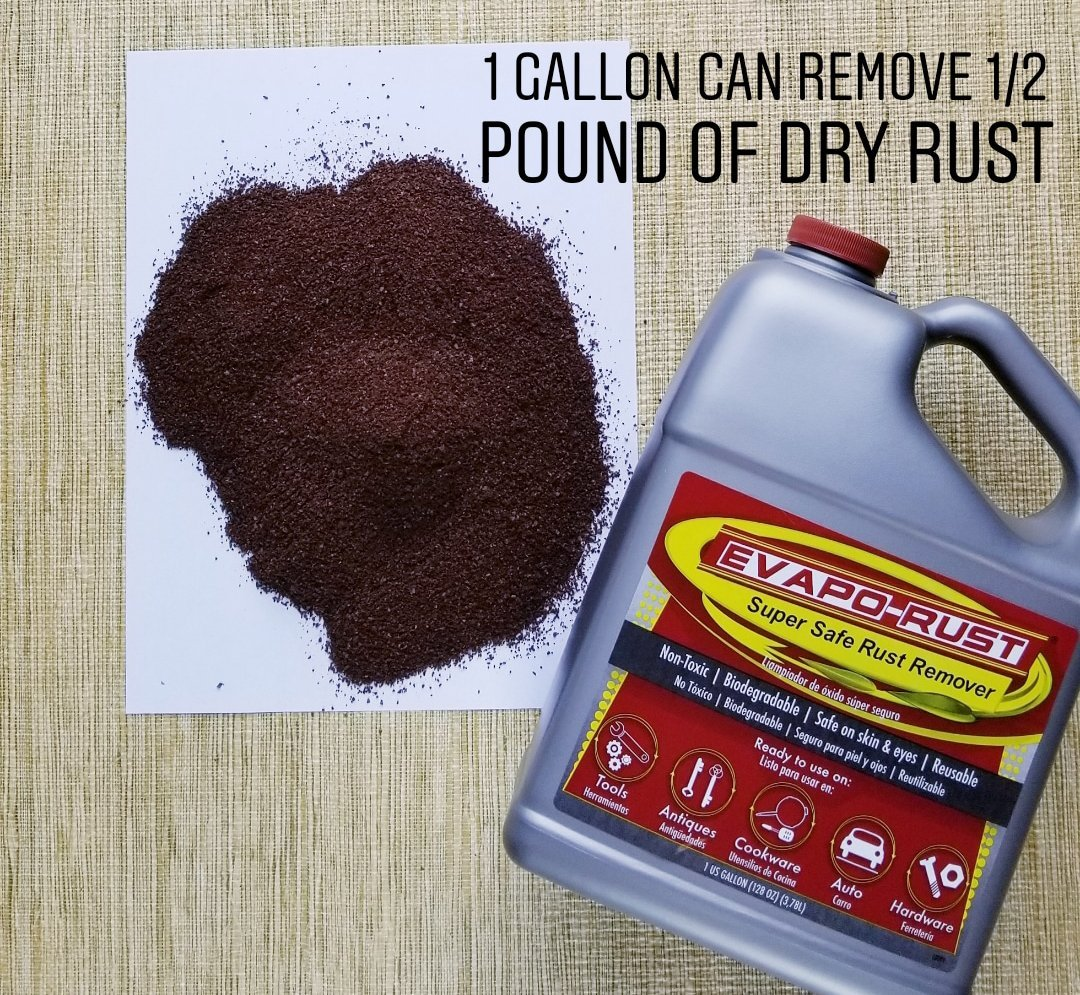 Evapo-Rust The Original Super Safe Rust Remover, Water-based, Non-Toxic, Biodegradable, 5 Gallons by Evapo-Rust (Image #2)