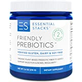 Essential Stacks Friendly Prebiotics - Organic Plant-Based Dietary Fiber to Support Gut Bacteria, Digestion & Bowel Regularit