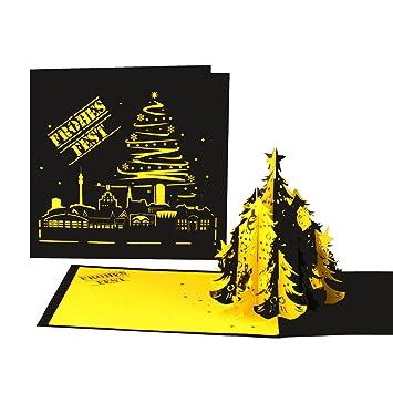 Tannenbaum Kaufen Dortmund.3d Weihnachtskarte Dortmund Skyline Weihnachten In Schwarz Gelb Weihnachtskarte Mit Tannenbaum Für Dortmund Fans
