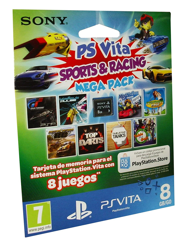 Sony - Mega Pack Sports & Racing: Tarjeta De Memoria De 8 GB ...