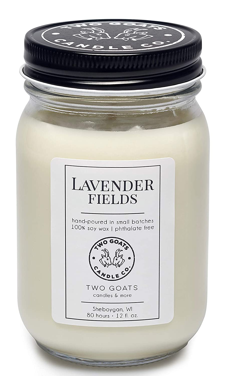 Amazon Com Lavender Fields Scented Soy Candle Hand Poured In