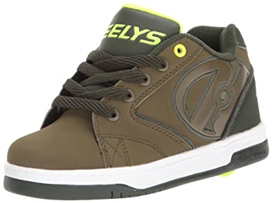33eca657752 Heelys Boys  Propel 2.0 Sneaker Olive Dark Green Bright Yellow 1 M US