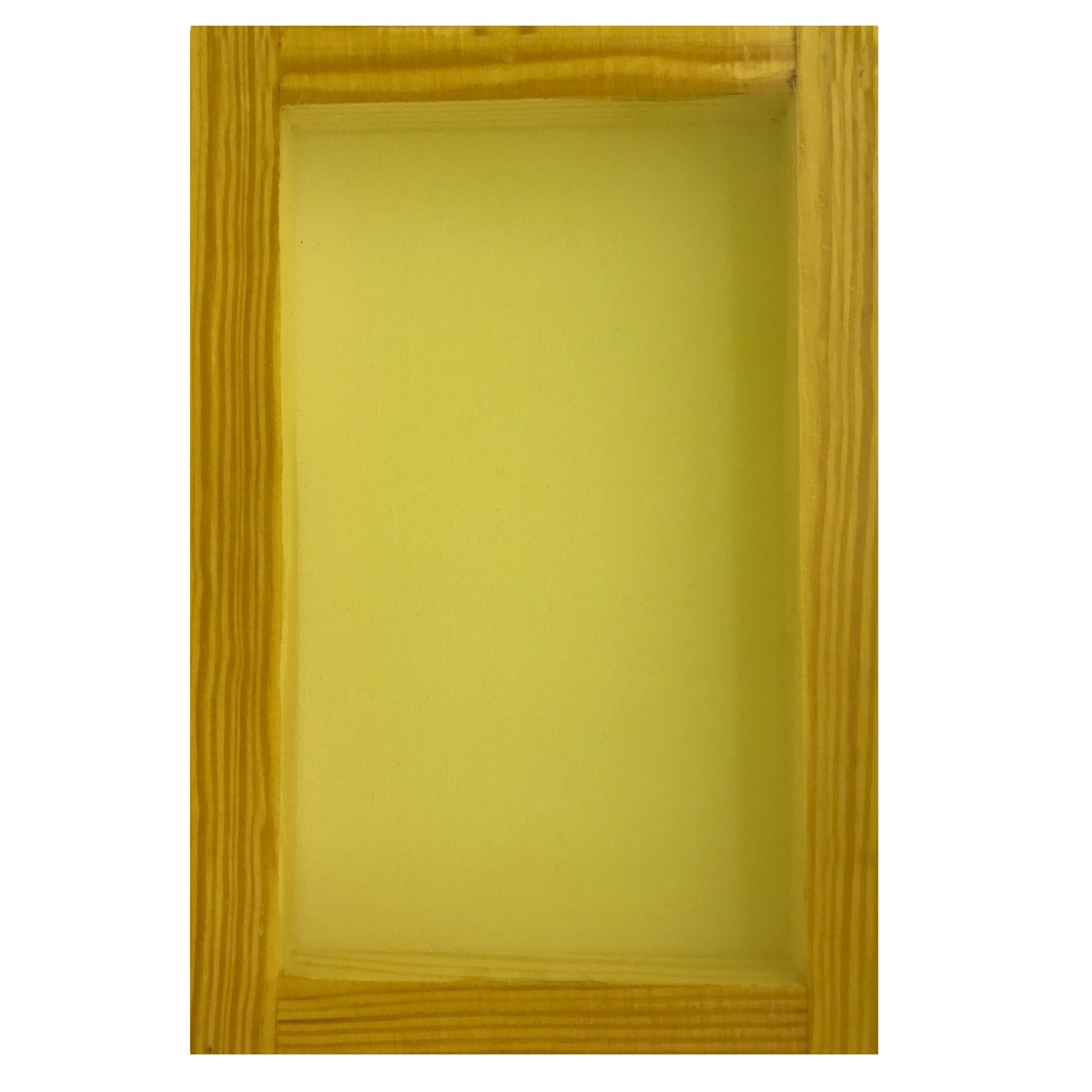 SILK SCREEN FRAME for SCREEN PRINTING (8x12'') 230 mesh White or Yellow by Sunbelt Mfg. Co