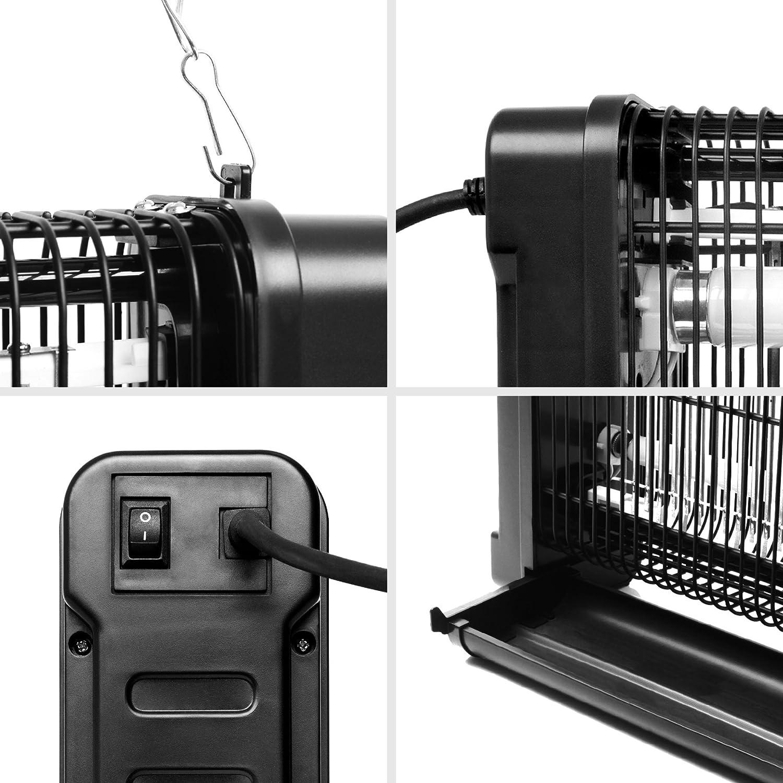 Duronic FK8416 Destructeurpiège d'InsectesMouchesmoustiques avec 2 Lampes Ultraviolet de 8W – Auto portatif ou Mural