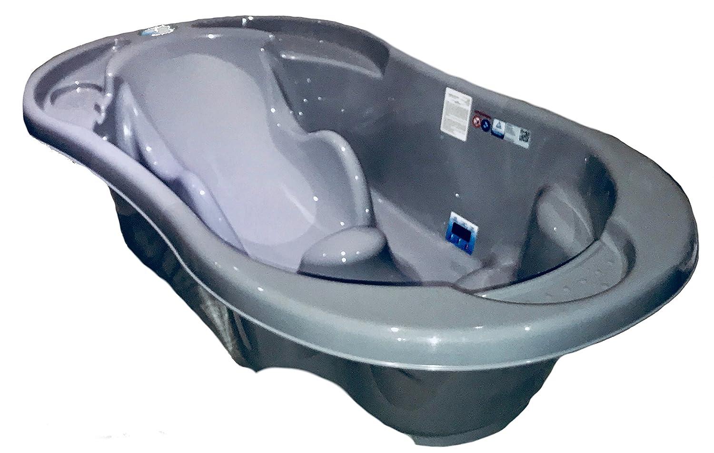 Blau 2 Stufige Baby-Badewanne für Neugeborene bis zu 15 Monaten  Anatomischer