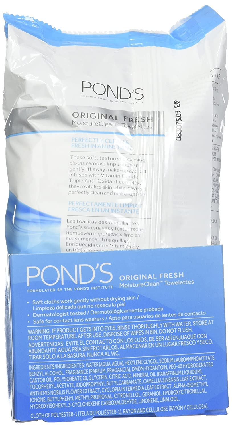 Amazon.com : Ponds Original Fresh Wet Cleansing Towelettes, 30-count (Pack of 12) : Beauty