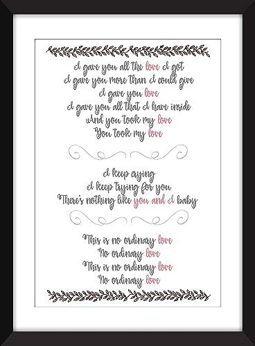 Amazon sade no ordinary love lyrics unframed print handmade sade no ordinary love lyrics unframed print stopboris Gallery