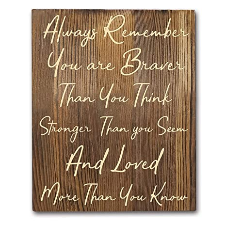 Amazon Com Winnie The Pooh Quotes Rustic Wood Wall Art Decor 8 X10