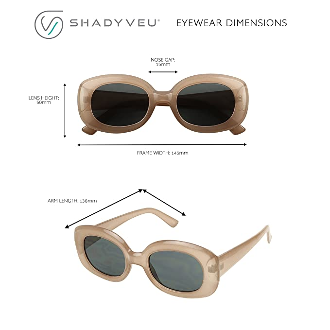 f8f9bcf00dc Amazon.com  ShadyVEU - Bold Square Thick Block Frame 60 s Inspired Jackie O  Retro Oversize Vintage Sunglasses (Taupe Frame