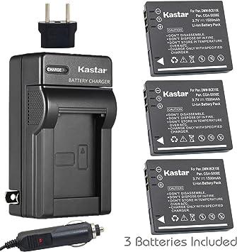 Batería//Cargador para Panasonic CGA-S008 DMW-BCE10E /& DMC-FX500 DMC-FX33 HM-TA1