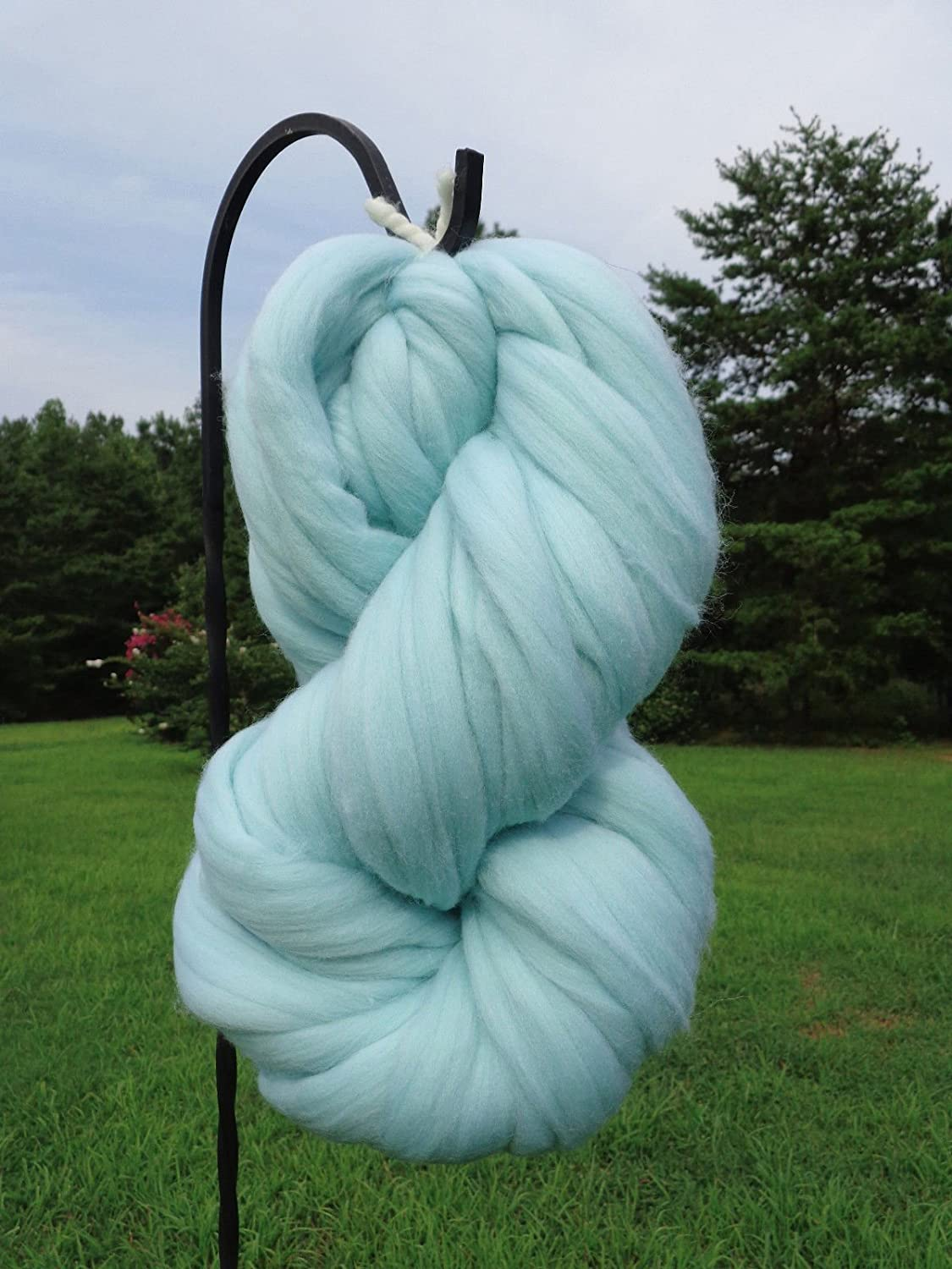 Frozen Blue Wool Top Roving Fiber Spinning, Felting Crafts USA (1oz) Shep' s Wool 4336907003