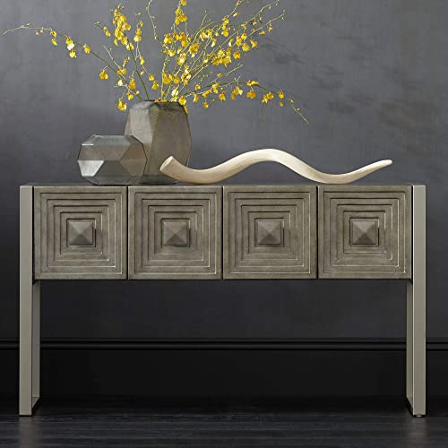 Carrington 51 1 2 Metallic Painted 4-Door Console Table