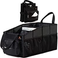 FoxBoxUsa Tote Car Organizer Front Seat & Backseat with Tissue Box and Insulated Cooler Cup Holder l Car Storage Box…