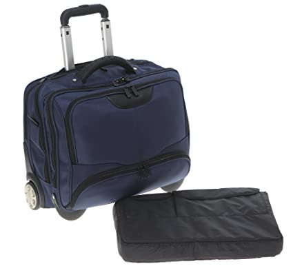 Dermata Maleta para portátil, con ruedas, con bolsillo acolchado extraíble, para portátil de