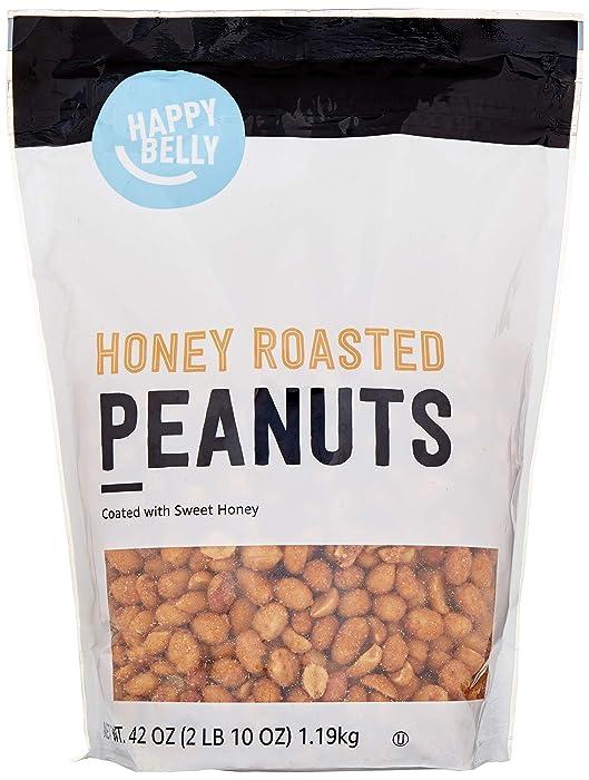 Amazon Brand - Happy Belly Honey Roasted Peanuts, 42 ounce
