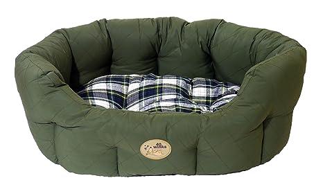 Rosewood 40 Winks Oval Country Sleeper, 20 pulgadas, verde/Check_P
