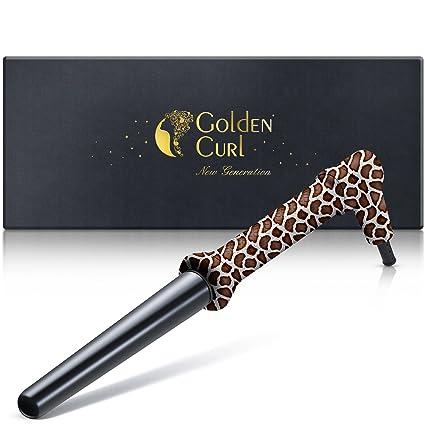 Golden Curl Hierro Rizador de Pelo GL506 - Ondulador Eléctrico Para Todos los Tipos de Cabello