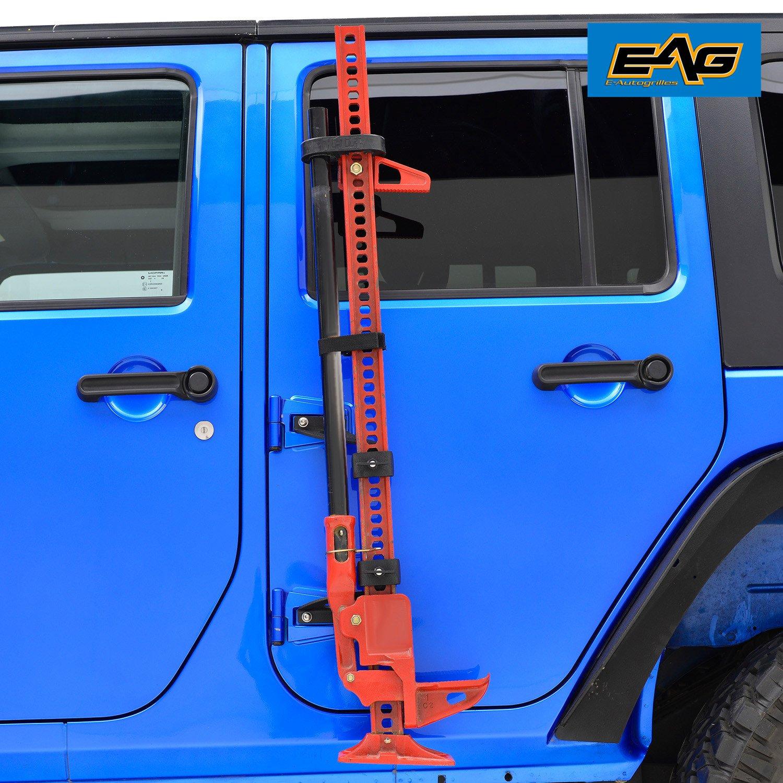 EAG 2007-2018 Jeep Wrangler JK Hi Lift Jack Mount Hood Hinge Bracket by EAG (Image #3)