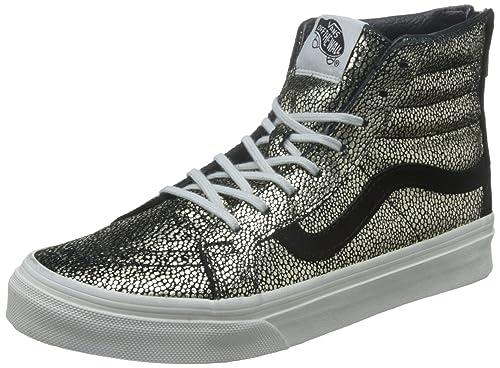 Vans U Sk8-Hi Slim Zip Cheetah Suede - Zapatillas Bajas Unisex, Color Cheetah Suede/Black/Tan, Talla 36