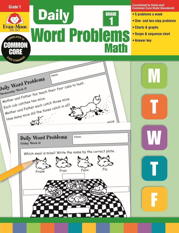 Amazon.com: Daily Word Problems, Grade 1 Math (0023472030016 ...