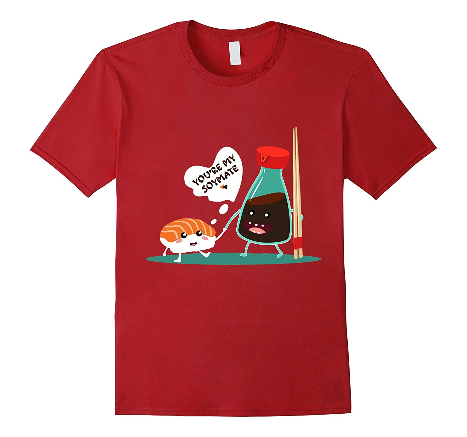 Youre My Soymate (Soulmate) Sushi Couples Japanese T-Shirt-BN