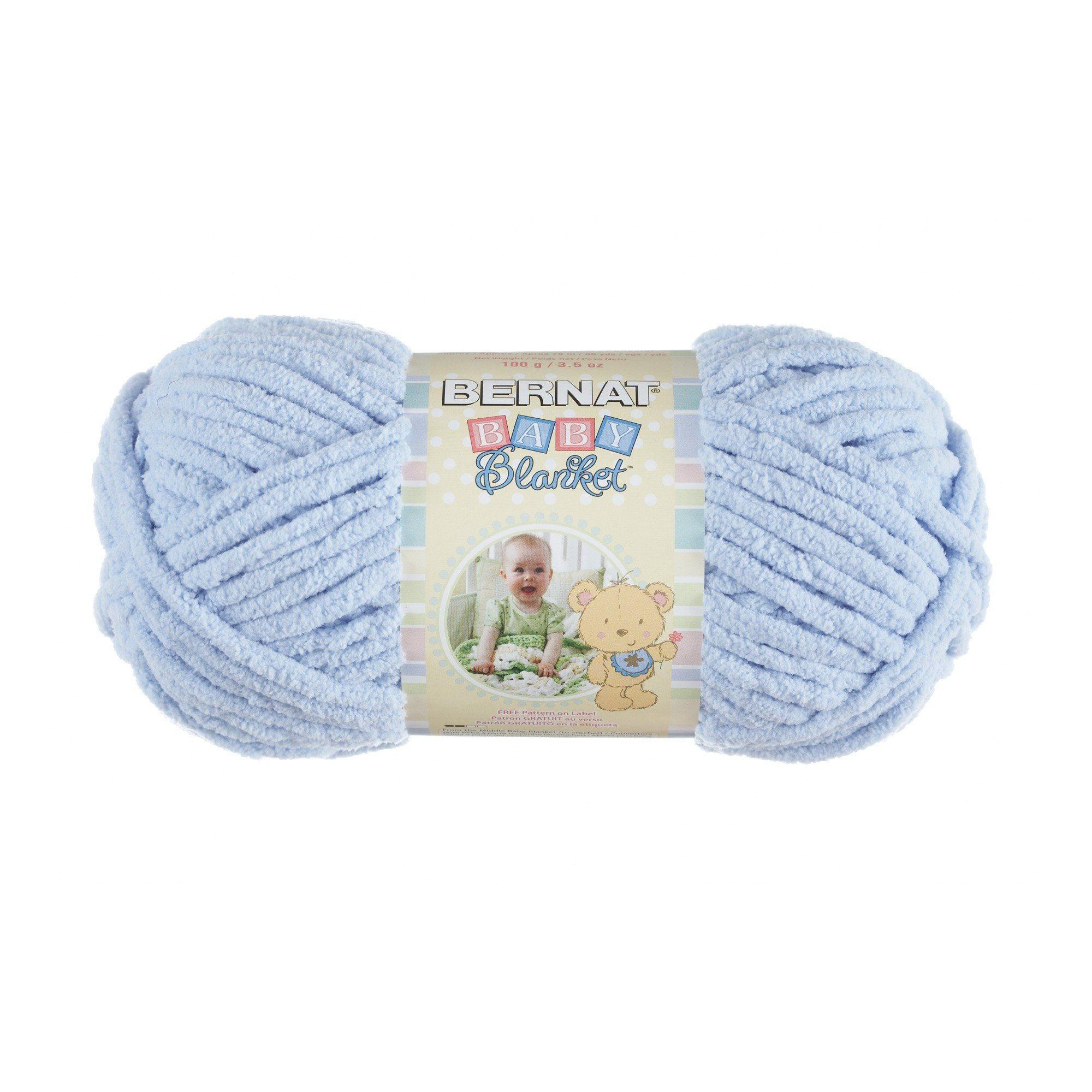 BERNAT Baby Blanket Yarn, 3.5oz, 6-Pack (White/Baby Blue) by Bernat (Image #2)