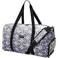 """Jadyn B 22"""" Women's Weekender Duffel Bag with Shoe Pocket (Geometric Gray)"""