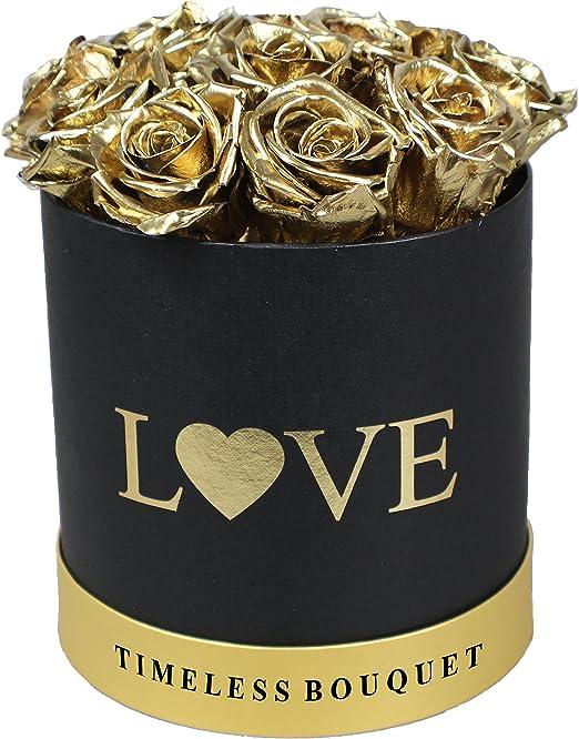 32 preservar rosas, Eternity rosas, (rojo burdeos) en un sombrero ...