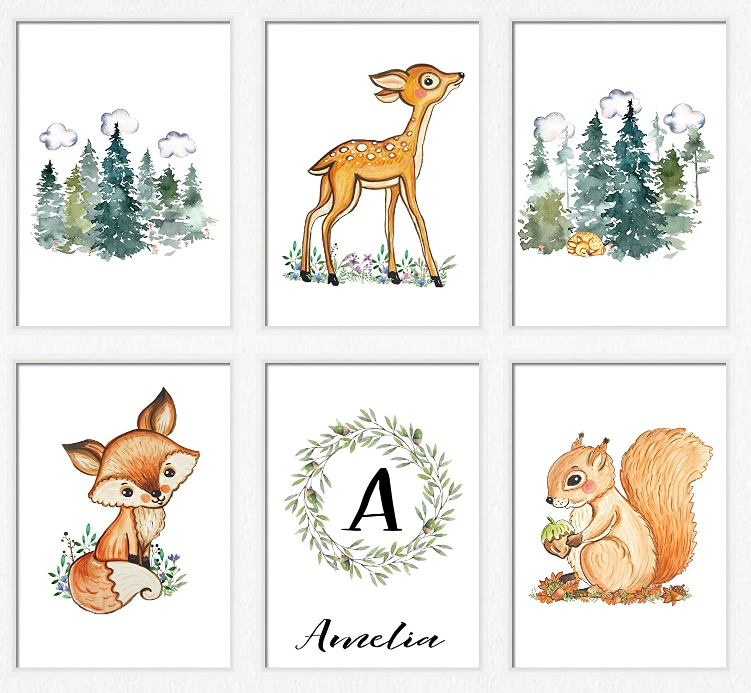 graphic relating to Printable Animals known as : Outside concept nursery Printable woodland pets