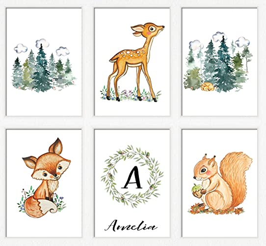 image regarding Printable Woodland Animals titled : Outside concept nursery Printable woodland pets